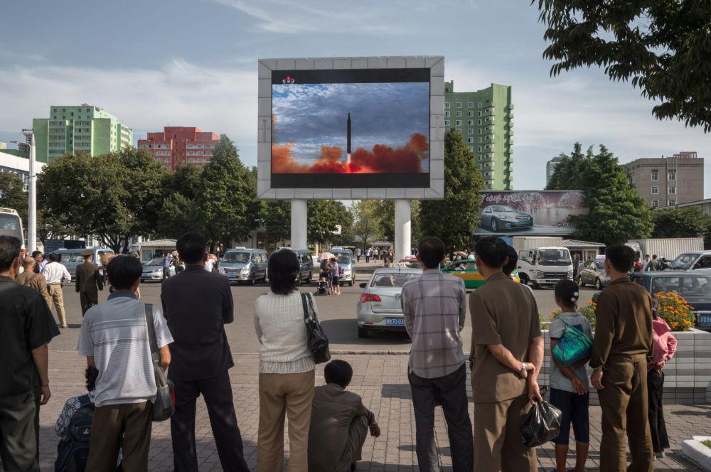 Translacja wystrzału rakiety balistycznej Hwasong-12