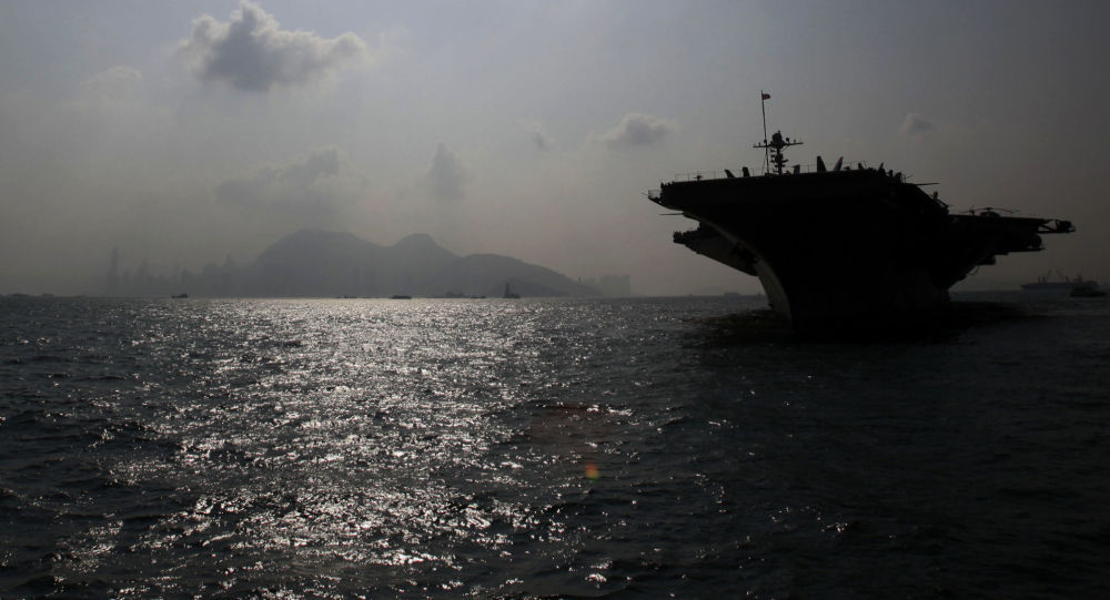 Amerykański lotniskowiec w czasie wspólnych ćwiczeń wojskowych USA w Korei Południowej