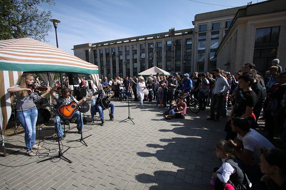 Na festiwalu wystąpiło osiem najlepszych grup rockowych z Doniecka i republiki.