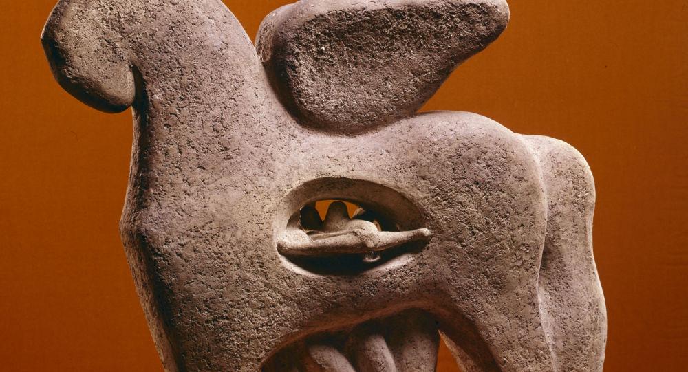 Rzeźba Koń trojański, autor: Lew Murawin, 1973 r.