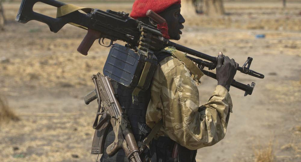 Południowosudański żołnierz