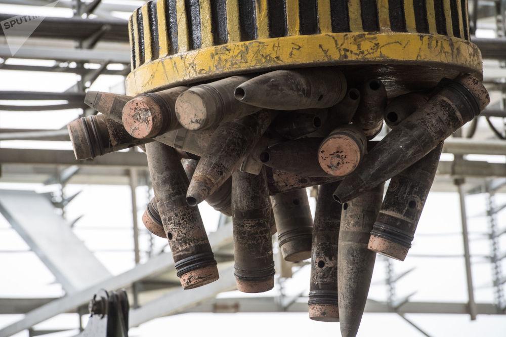Utylizacja wypalonej amunicji z substancjami trującymi w ramach programu niszczenia ostatniego pocisku z rosyjskiego arsenału broni chemicznej w miejscowości Kizner w Udmurcji.