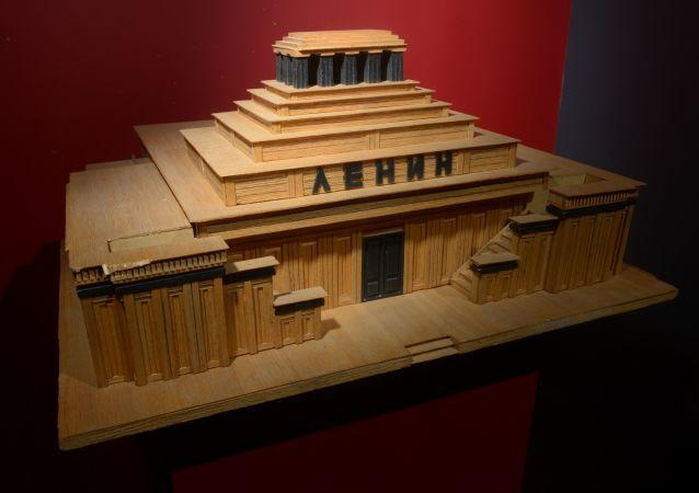 Makieta mauzoleum Lenina architekta A. Szczusiewa