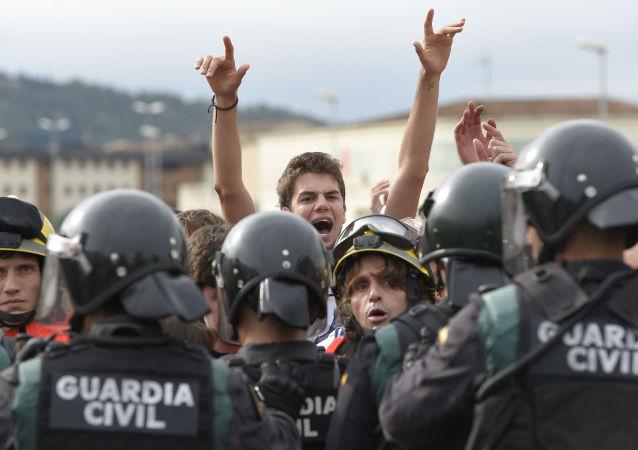 Starcia podczas referendum w sprawie niepodległości Katalonii