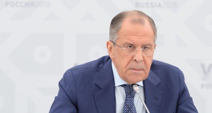 Briefing ministra spraw zagranicznych FR Siergieja Ławrowa