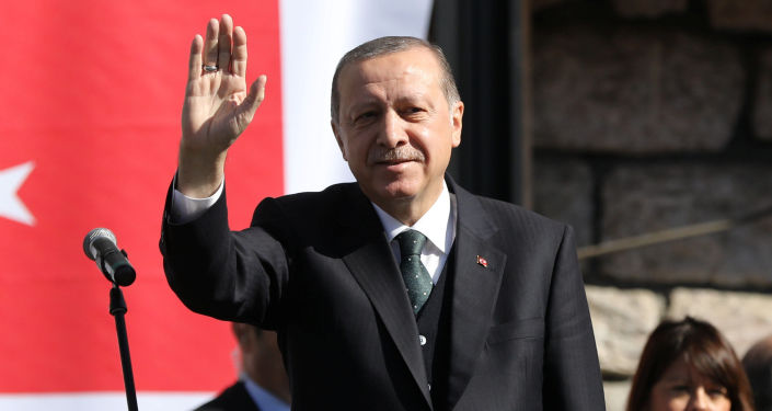Prezydent Turcji Recep Tayyip Erdogan w Serbii