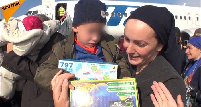 Rosyjskie dzieci przewieziono do Groznego z Iraku