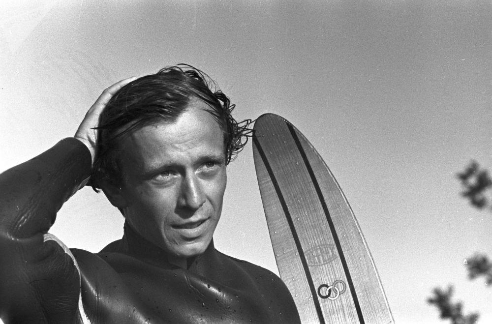 Grigorij Gusiew, absolutny mistrz ZSRR w nartach wodnych, 1970 rok