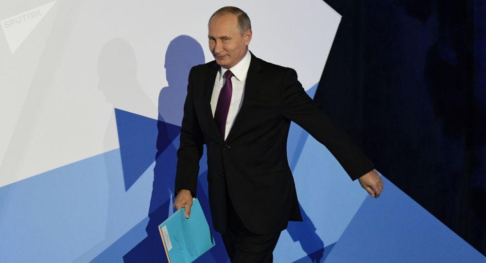 """prezydent Rosji Władimir Putin podczas podsumowującej debaty posiedzenia klubu """"Wałdaj"""