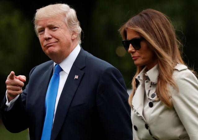 Prezydent USA Donald Trump i jego żona Melania w Waszyngtonie