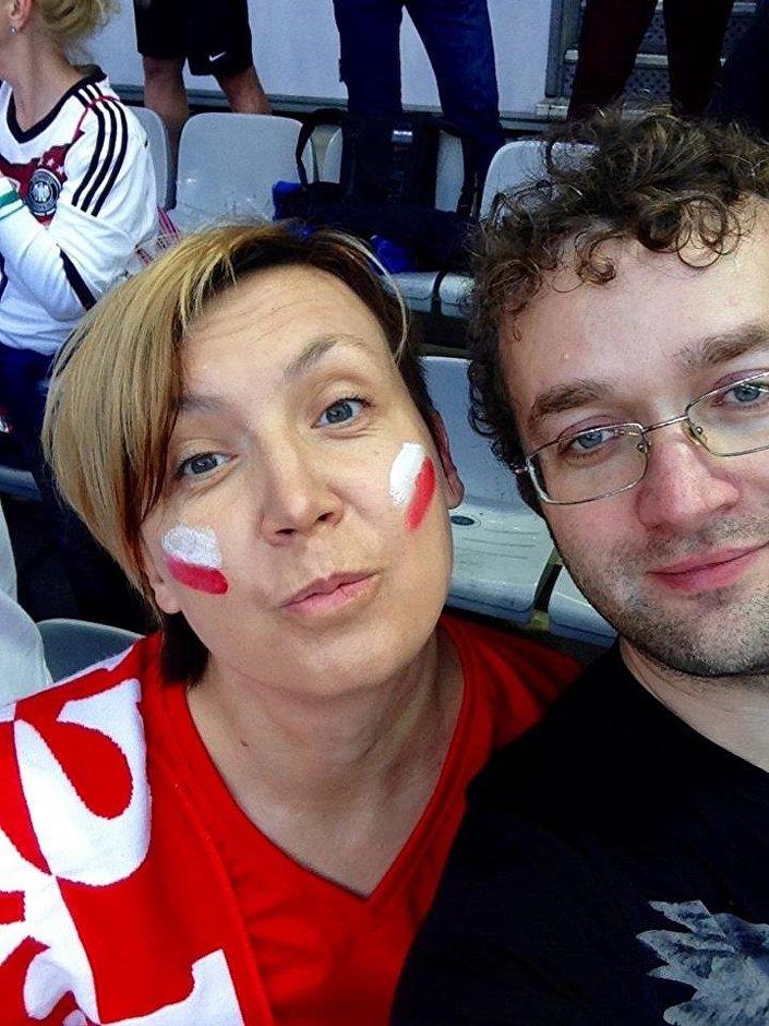 Anna z mężem kibicują polskiej drużynie