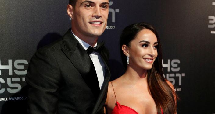 Granit Xhaka i jego żona Leonita Lekaj