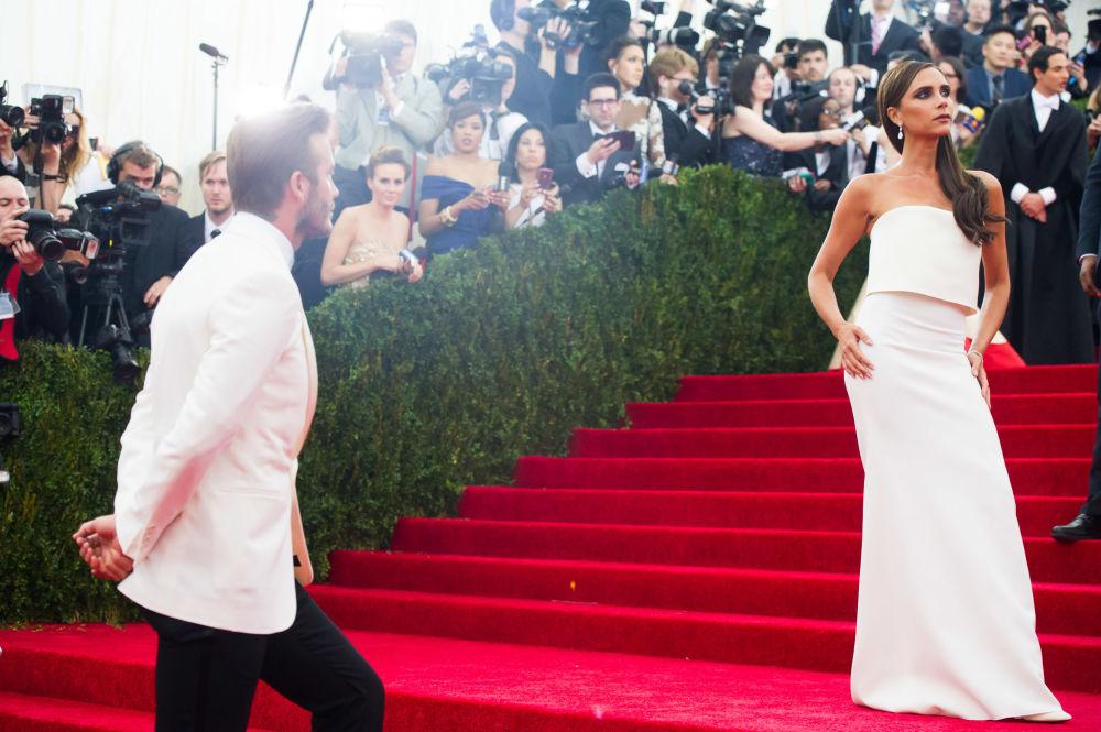 David Beckham i jego żona Victoria