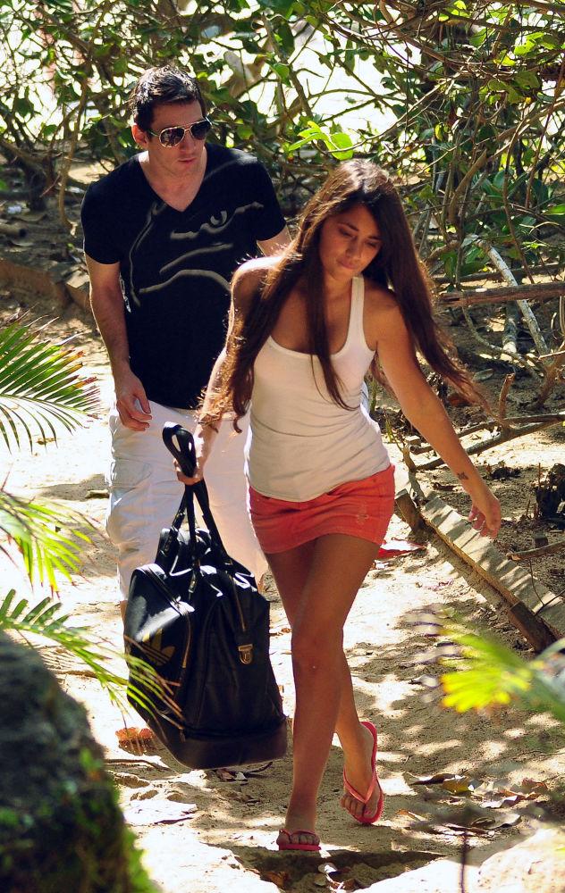 Lionel Messi i jego partnerka Antonella Roccuzzo