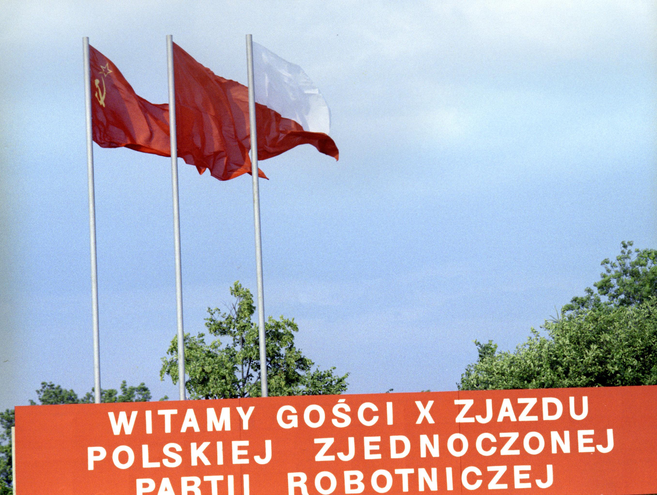 'Witamy gości X Zjazdu Polskiej Zjednoczonej Partii Robotniczej