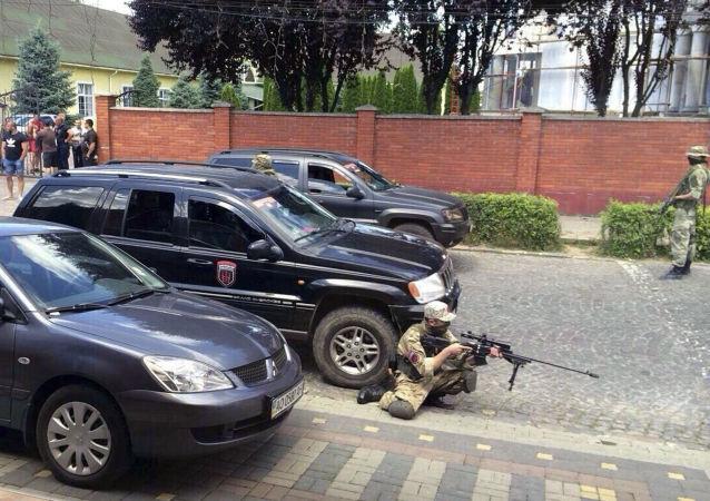 W Mukaczewie strzelanina z udziałem Prawego Sektora