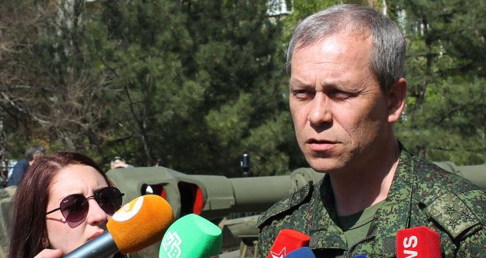 Zastępca dowódcy sztabu powstańców DRL Eduard Basurin