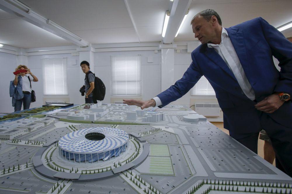 Makiet nowego stadionu w Niżnym Nowogrodzie