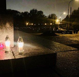 W dniu Wszystkich Świętych  - Cmentarz Mauzoleum Żołnierzy Radzieckich