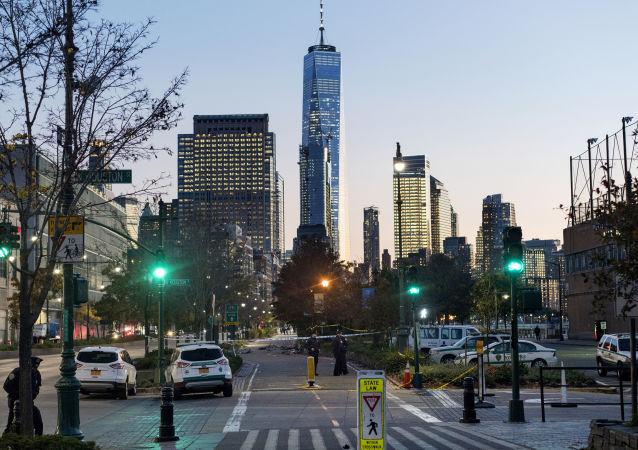 Policja na miejscu ataku terrorystycznego w Nowym Jorku