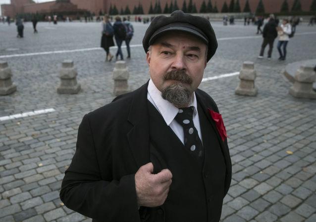 Sobowtór Lenina na Placu Czerwonym