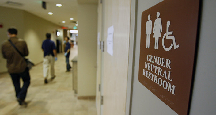 Toaleta dla wszystkich na uniwersytecie w Burlington, USA
