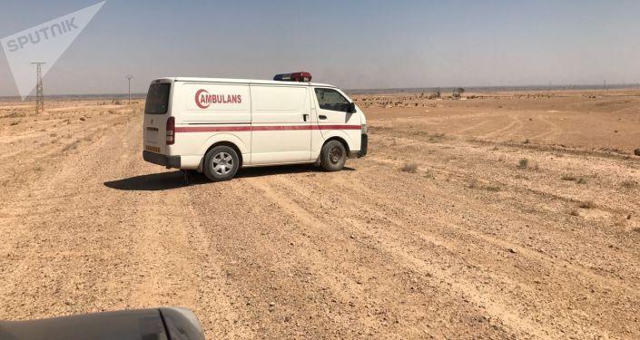 Ambulans w rejonie Dajr az-Zaur