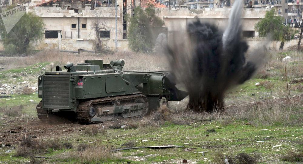 Rozminowywanie kwartałów mieszkalnych Aleppo