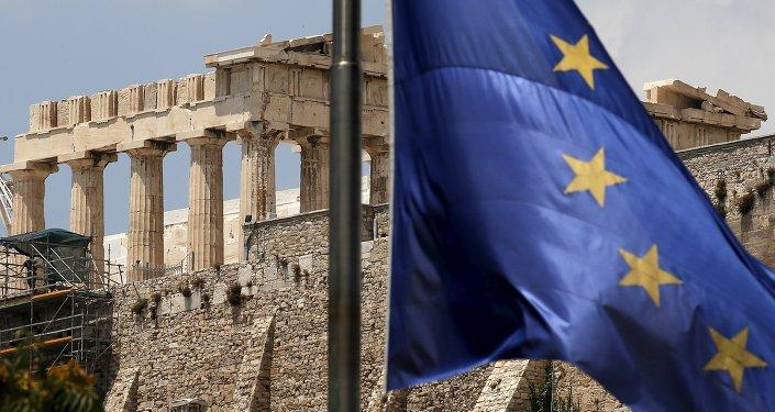 Grecja, flaga UE