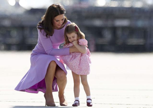 Katarzyna, księżna Cambridge z córką