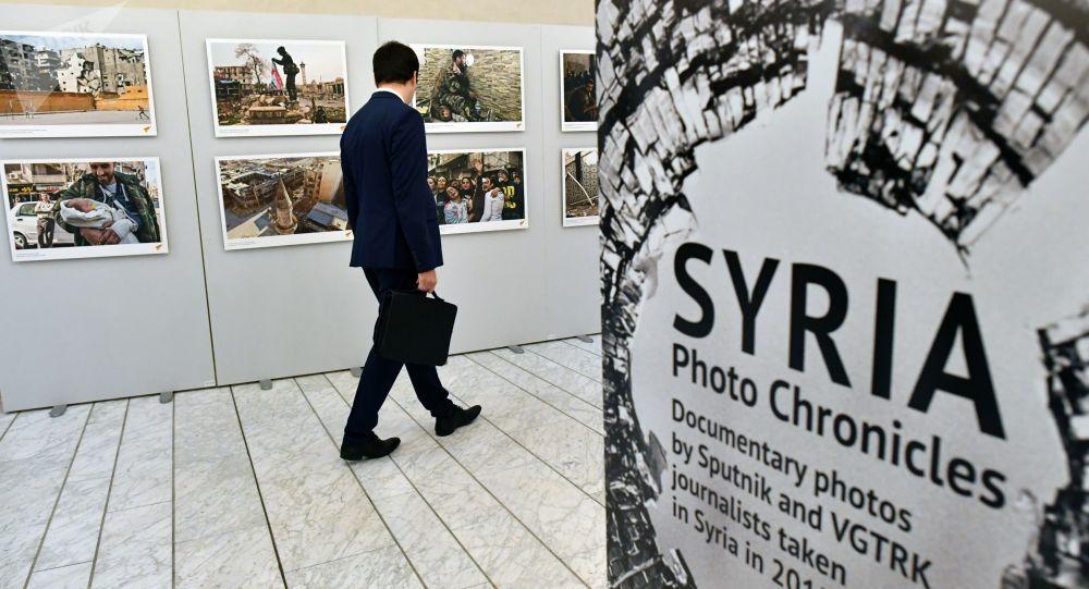 """Wystawa """"Syria. Kronika fotograficzna wojny"""" w Parlamencie Europejskim w Strasburgu"""