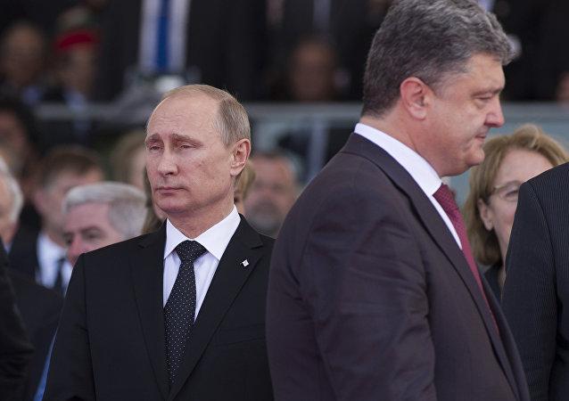 Władimir Putin i Piotr Poroszenko