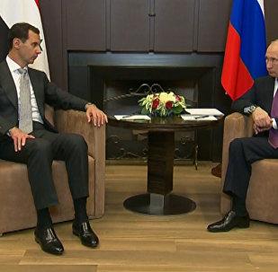 Spotkanie Putina z Asadem w Soczi