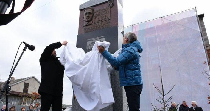 Odsłonięcie pomnika Romana Szuchewycza we Lwowie