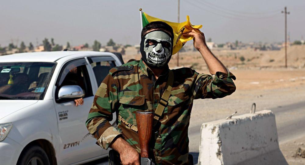 Przedstawiciel sił irackiej mobilizacji ludowej Al-Haszd asz-Sza'abi