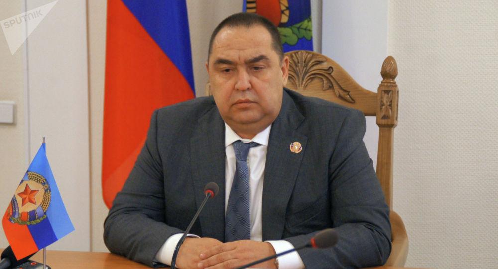 Głowa Ługańskiej Republiki Ludowej Igor Płotnicki