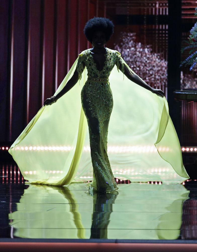 Miss Jamajki Davina Bennett podczas konkursu piękności Miss Universe-2017 w Las Vegas