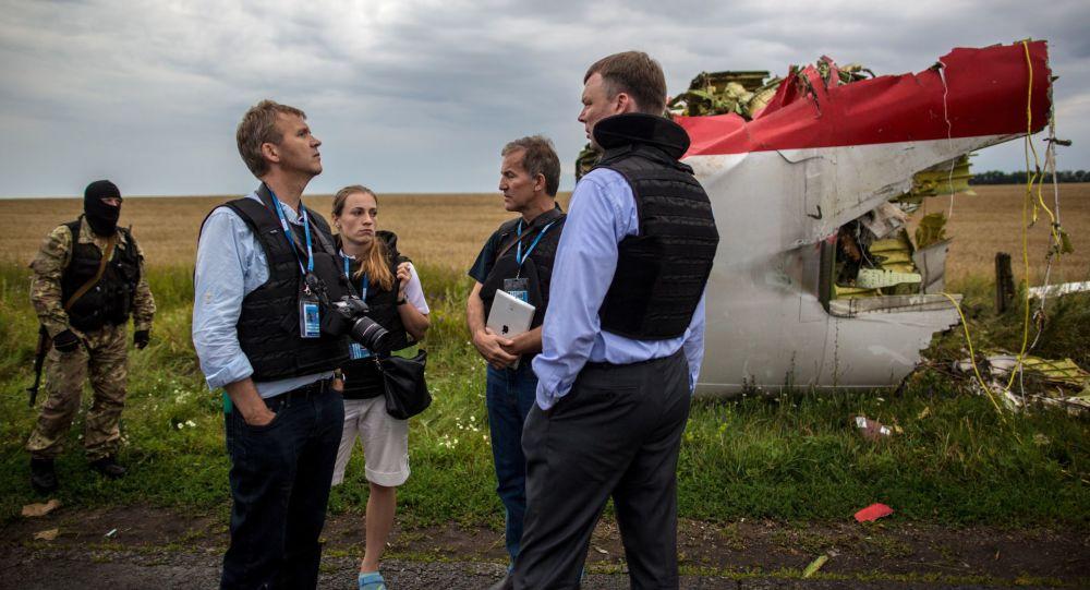 Eksperci OBWE na miejscu katastrofy malezyjskiego Boeinga 777 w obwodzie donieckim