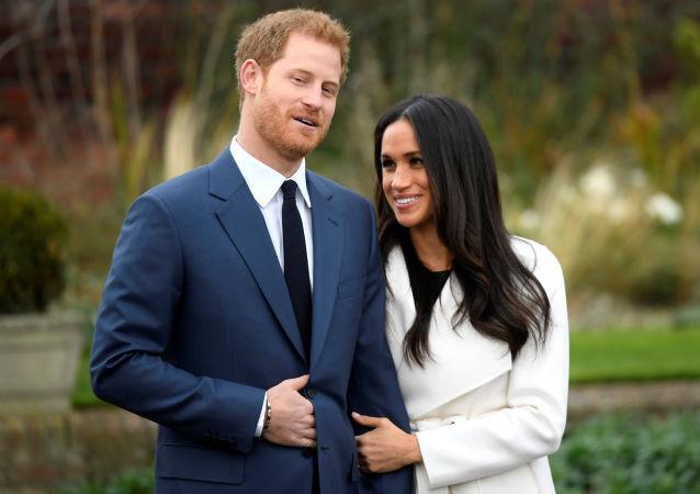 Książę Harry i jego narzeczona Meghan Markle