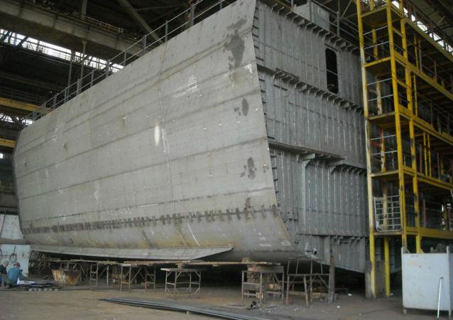 """Budowa ukraińskiego okrętu klasy """"Korweta"""" projektu 58250"""