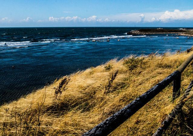 Morski pejzaż duńskiej wyspy Bornholm, Dania