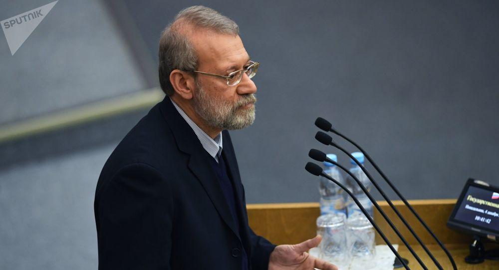 Przewodniczący Islamskiego Zgromadzenia Konsultatywnego Iranu Ali Laridżani