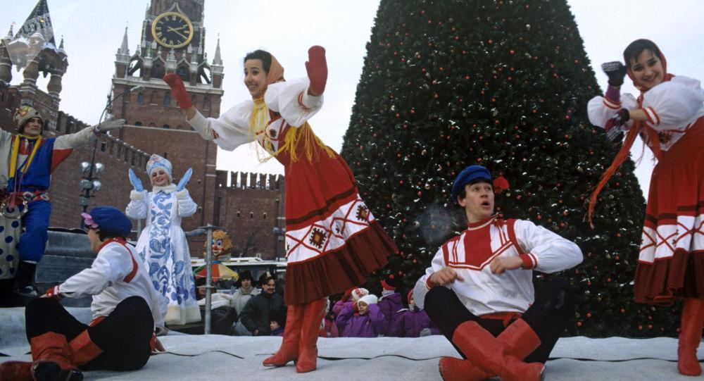 W przeddzień Nowego Roku na Placu Czerwonym, 1993 rok