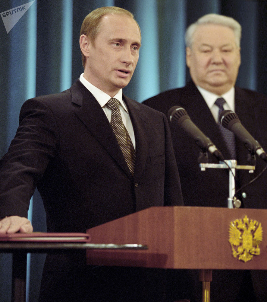 Władimir Putin składa przysięgę Prezydenta Federacji Rosyjskiej, 2000 rok