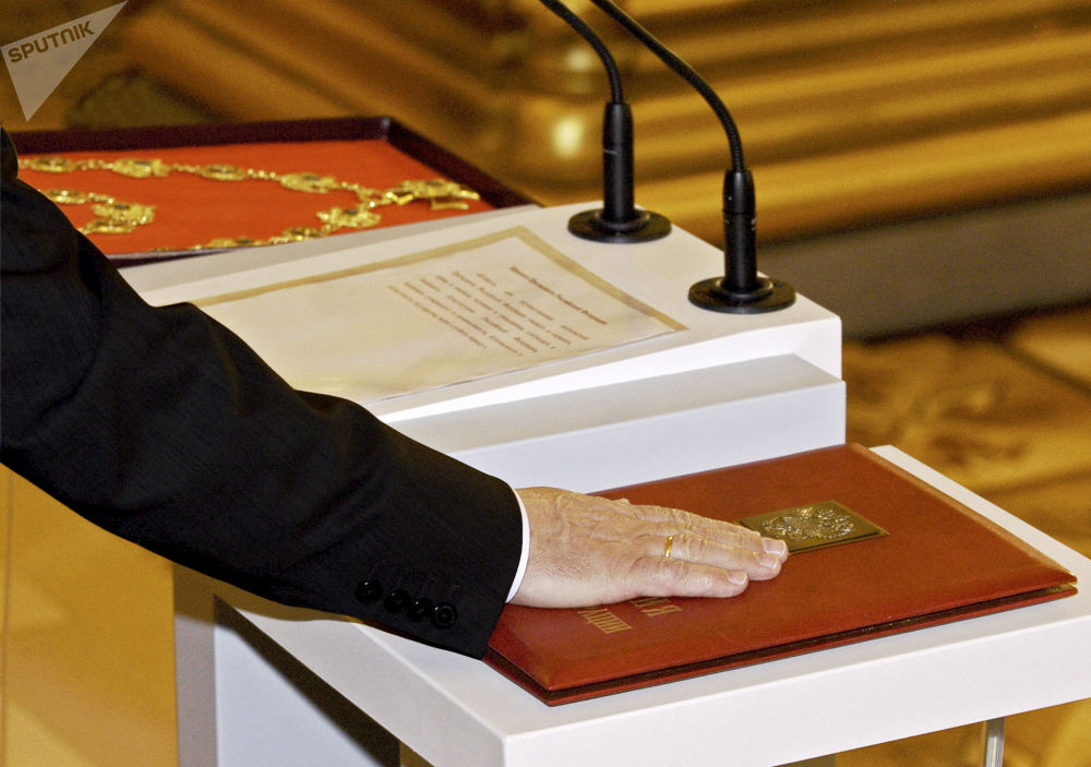 Oficjalne objęcie stanowiska pezydenta Federacji Rosyjskiej Władimira Putina, 2004 rok