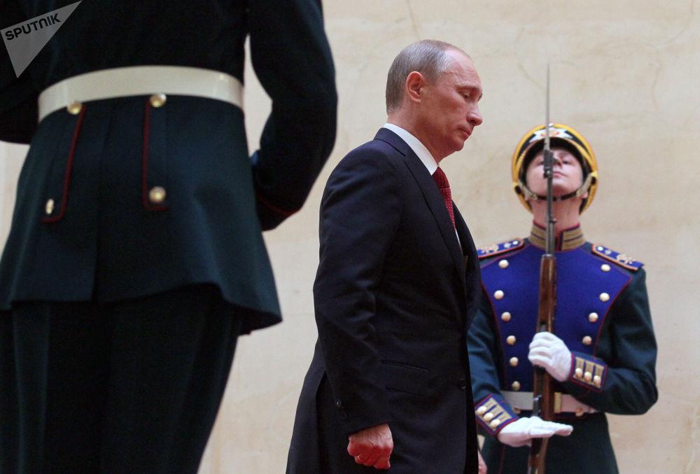 Władimir Putin podczas ceremonii oficjalnego objęcia stanowiska, 2012 rok