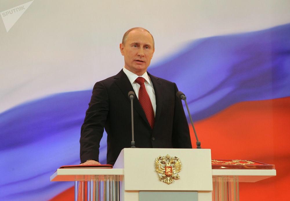 Władimir Putin składa przysięgę Prezydenta Federacji Rosyjskiej, 2012 rok
