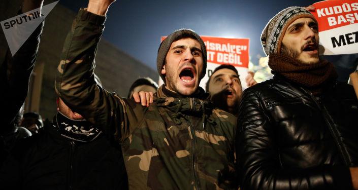 Turcy protestują przeciwko decyzji Trumpa