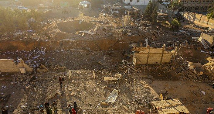 Izraelscy żołnierza atakują obiekty Hamasu