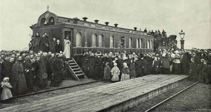 Wagon -cerkiew został zbudowany w latach 1891–1896.